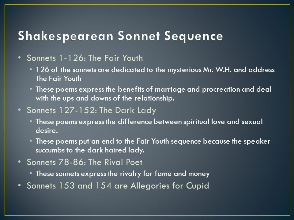 Shakespearean Sonnet Sequence
