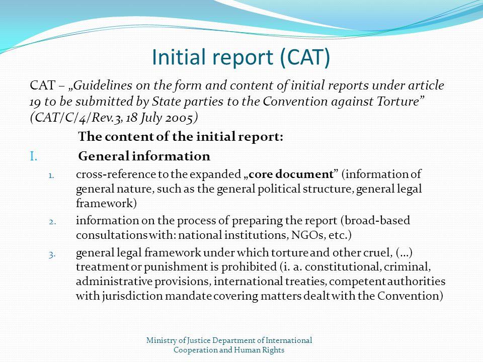 Initial report (CAT)