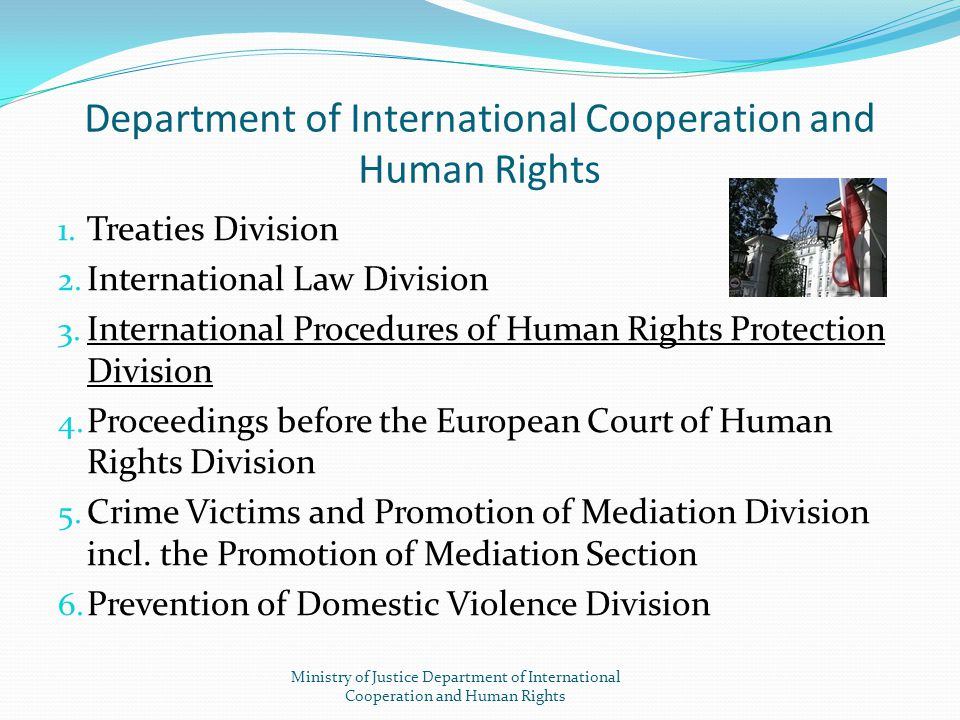 Department of International Cooperation and Human Rights