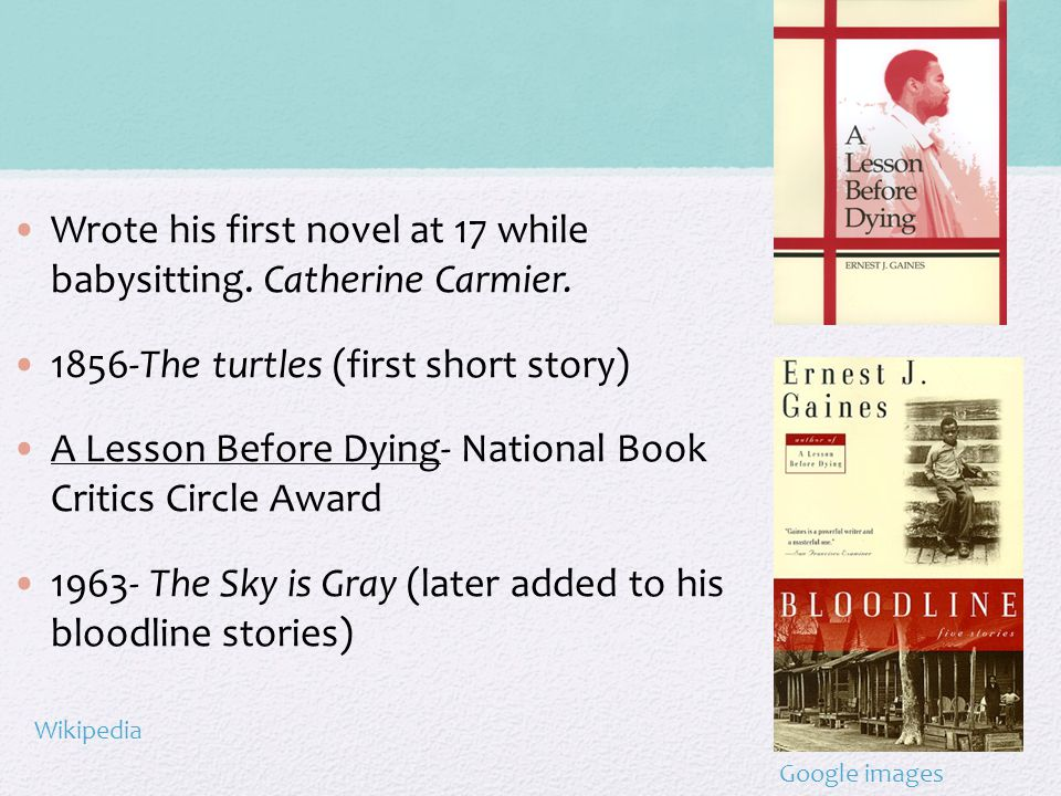 Wrote his first novel at 17 while babysitting. Catherine Carmier.