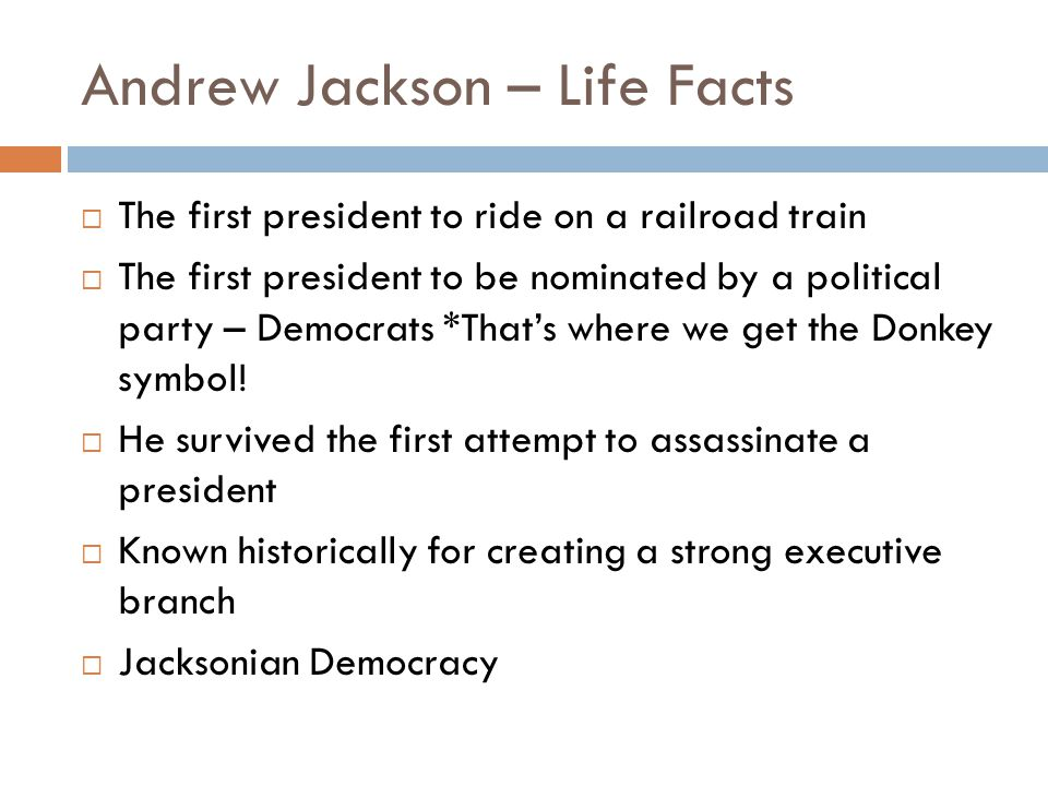 Andrew Jackson – Life Facts