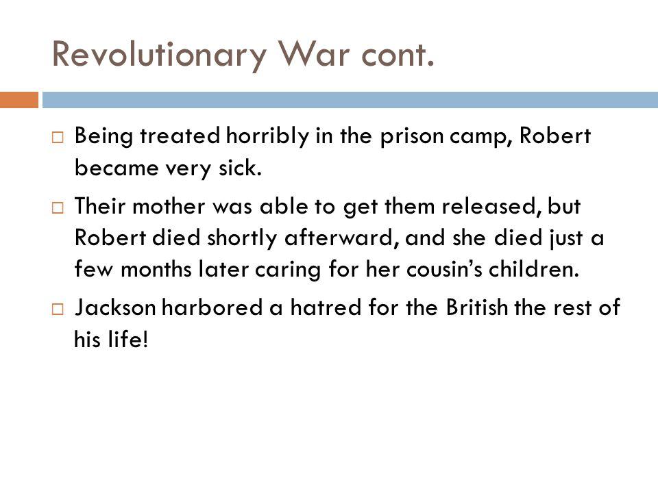 Revolutionary War cont.