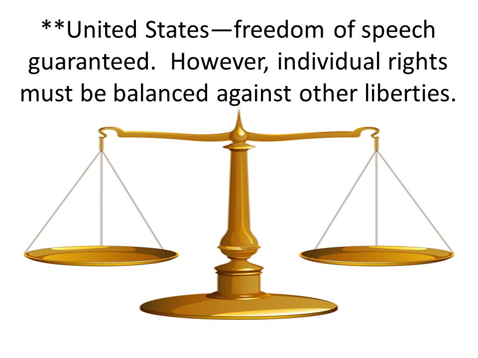 United States—freedom of speech guaranteed