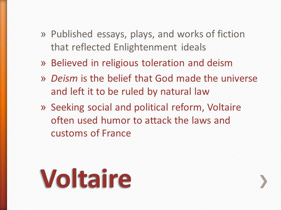 Published essays, plays, and works of fiction that reflected Enlightenment ideals