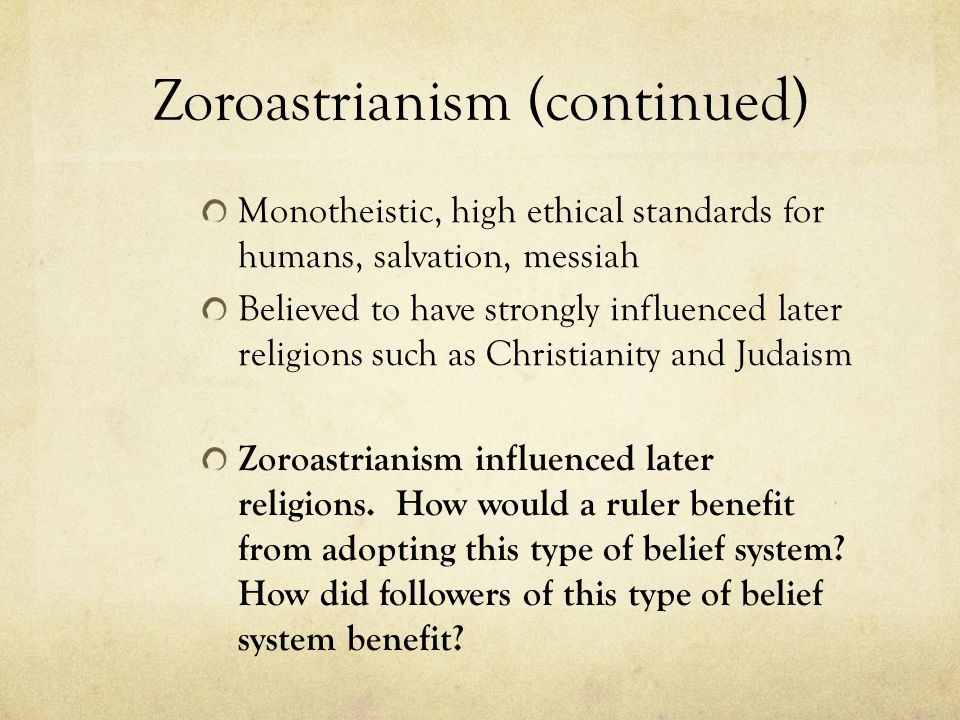 Zoroastrianism (continued)