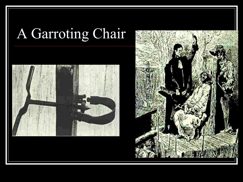 A Garroting Chair