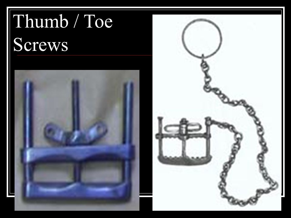 Thumb / Toe Screws