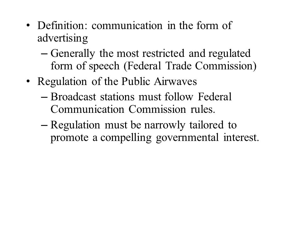 Definition: communication in the form of advertising