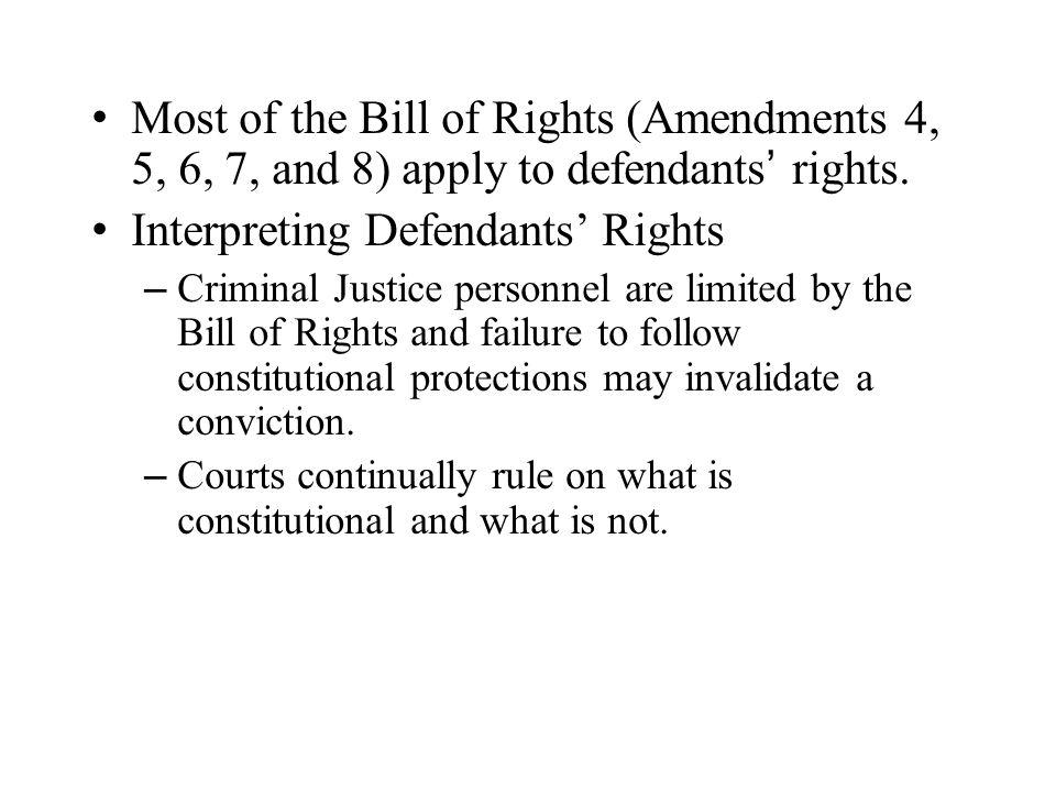 Interpreting Defendants' Rights