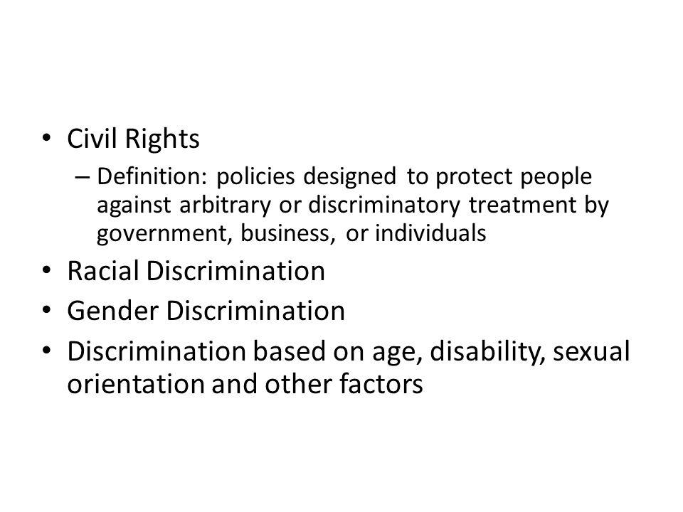 Racial Discrimination Gender Discrimination