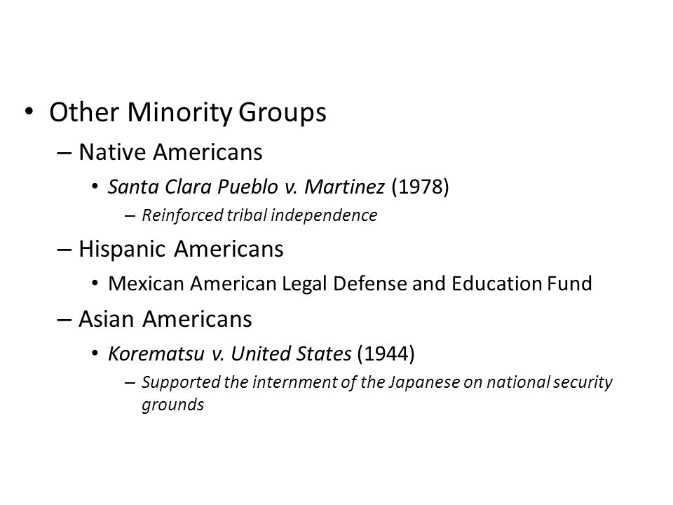 Other Minority Groups Native Americans Hispanic Americans