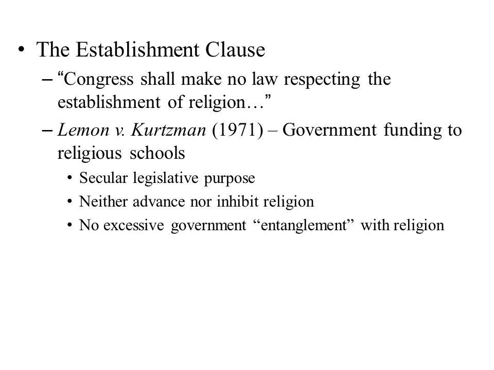 The Establishment Clause