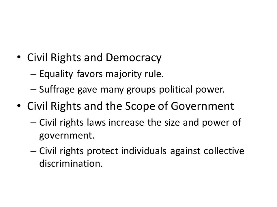 Civil Rights and Democracy
