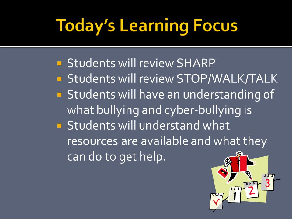 Today's Learning Focus