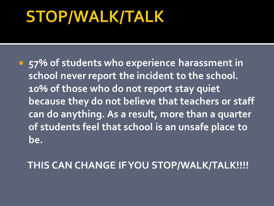 THIS CAN CHANGE IF YOU STOP/WALK/TALK!!!!