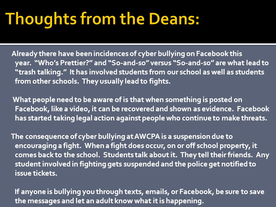 Thoughts from the Deans: