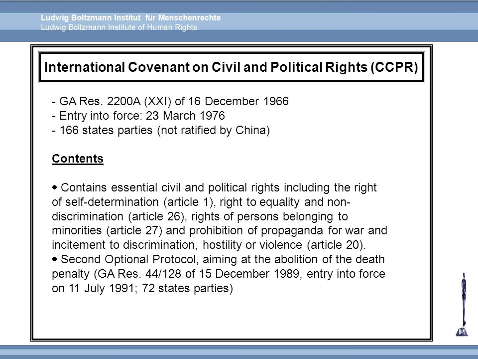 International Covenant on Civil and Political Rights (CCPR)