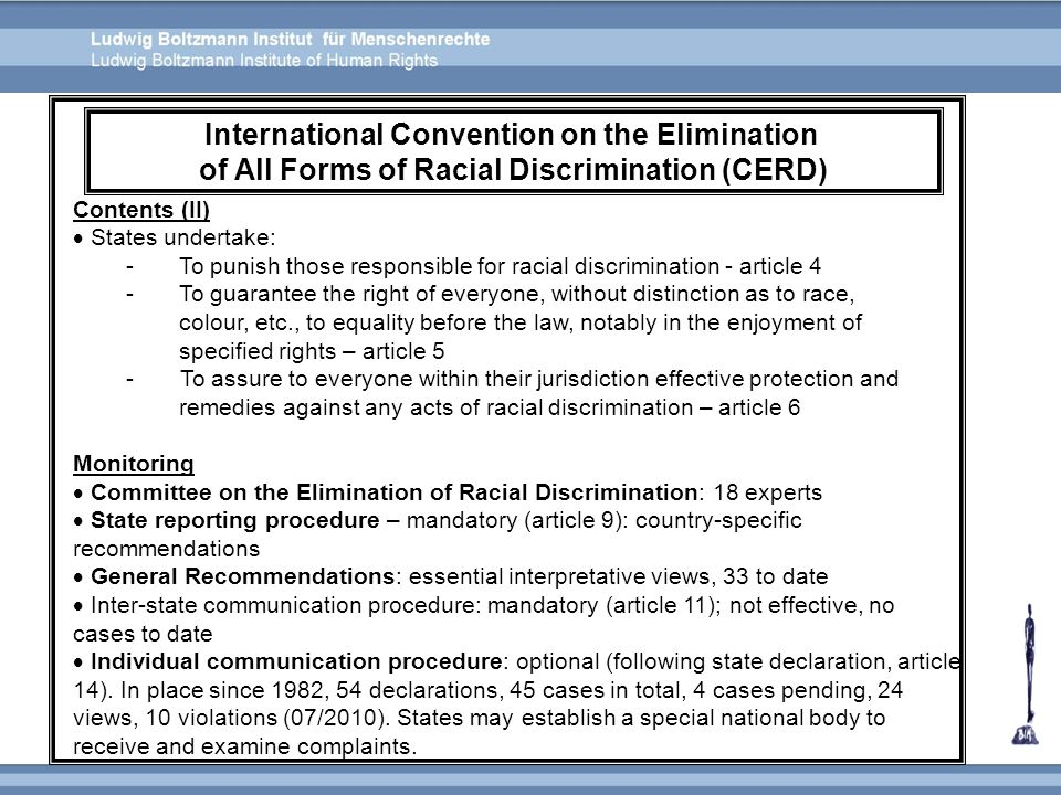 International Convention on the Elimination