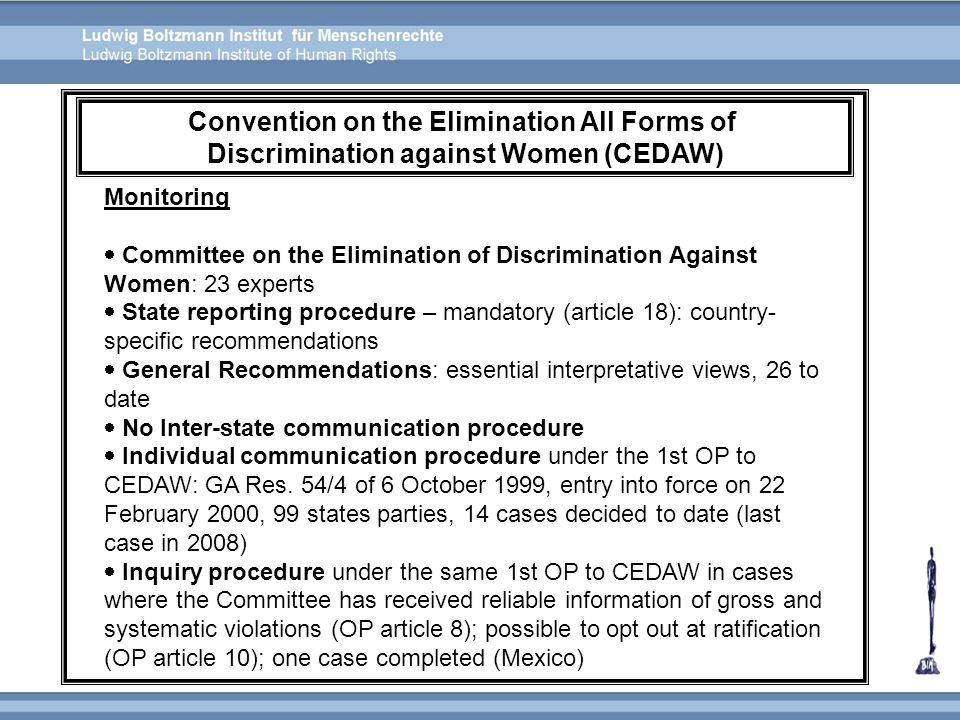 Convention on the Elimination All Forms of