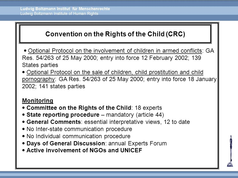 Convention on the Rights of the Child (CRC)