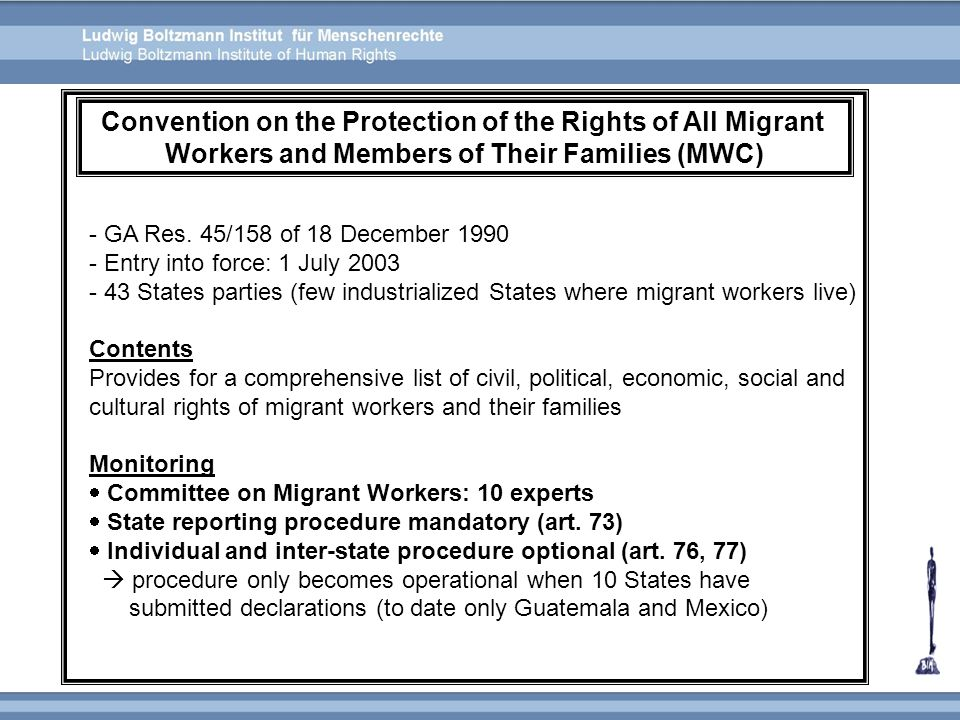 Convention on the Protection of the Rights of All Migrant