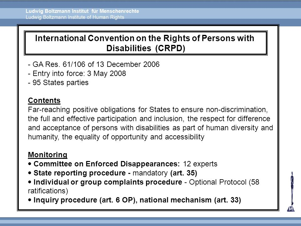 International Convention on the Rights of Persons with