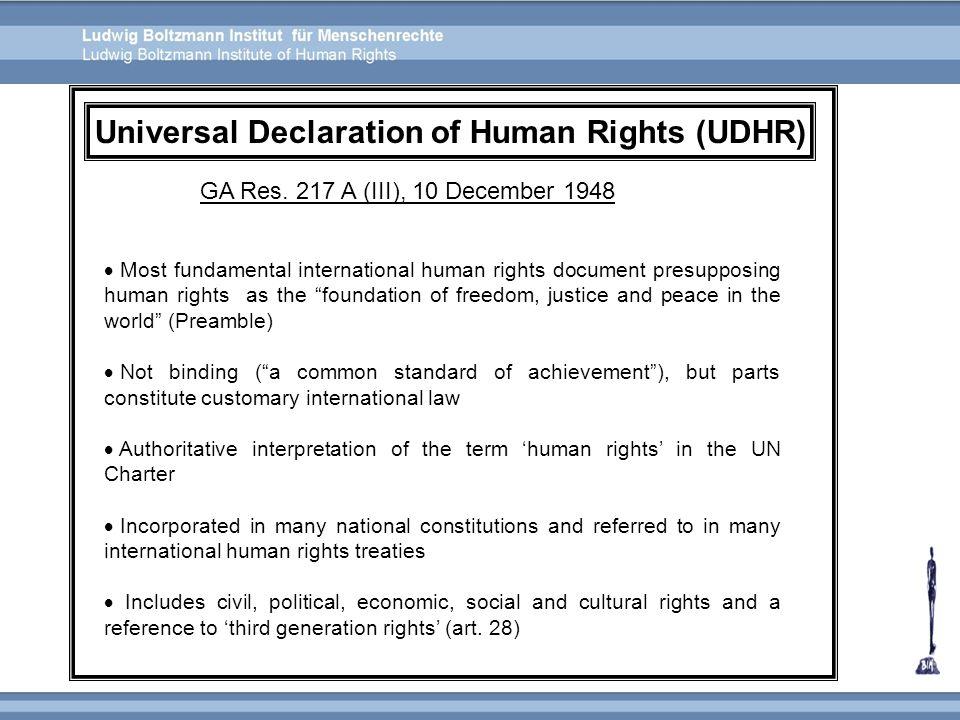 Universal Declaration of Human Rights (UDHR)