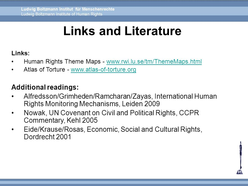 Links and Literature Additional readings: