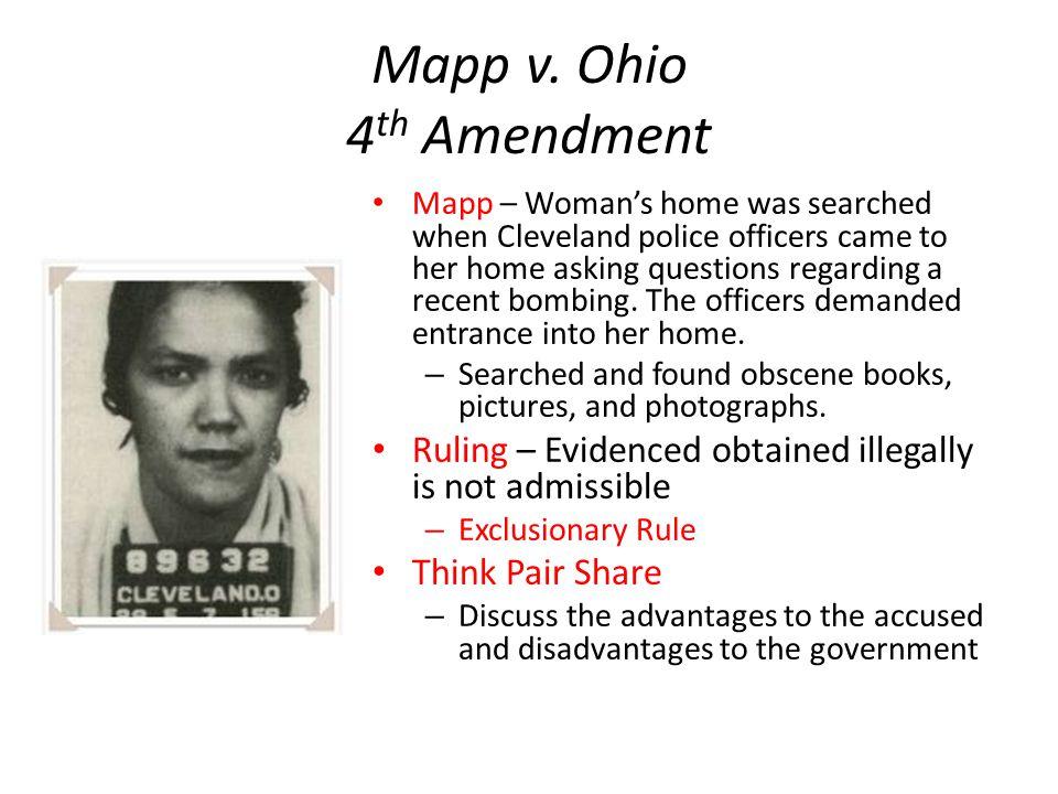 Mapp v. Ohio 4th Amendment
