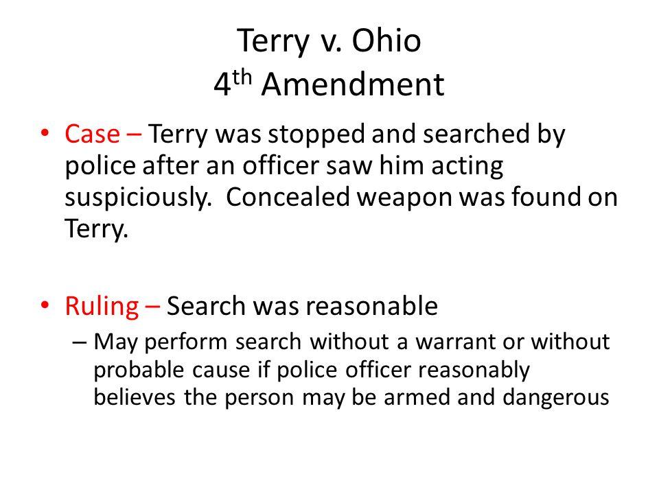 Terry v. Ohio 4th Amendment