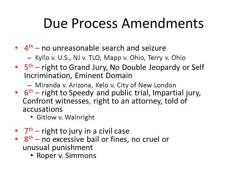 Due Process Amendments
