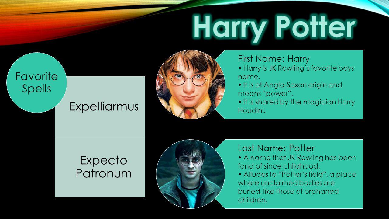 Harry Potter Expelliarmus Expecto Patronum Favorite Spells
