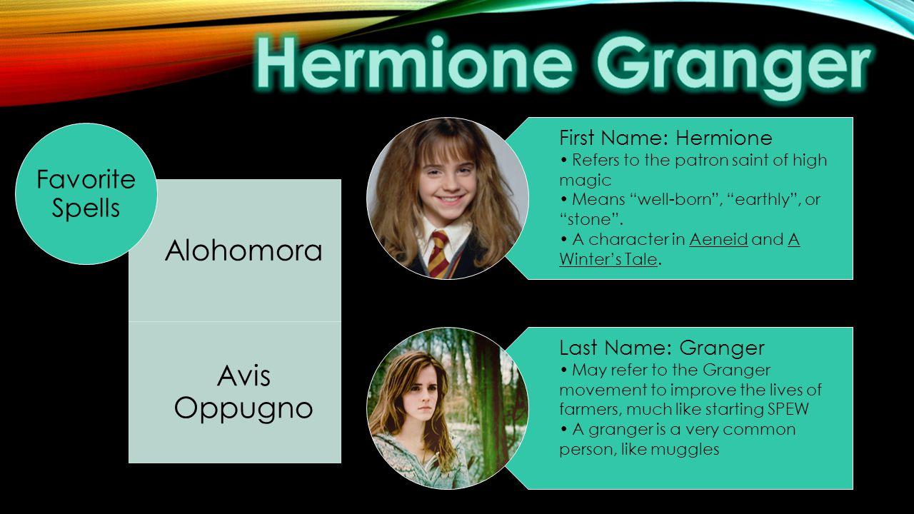 Hermione Granger Alohomora Avis Oppugno Favorite Spells