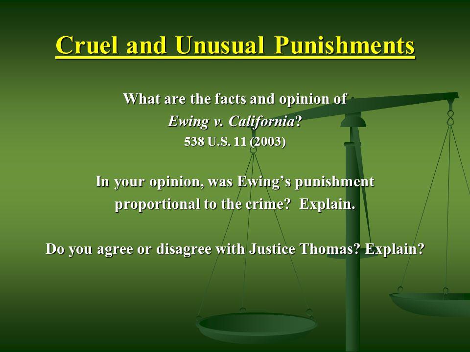 Cruel and Unusual Punishments