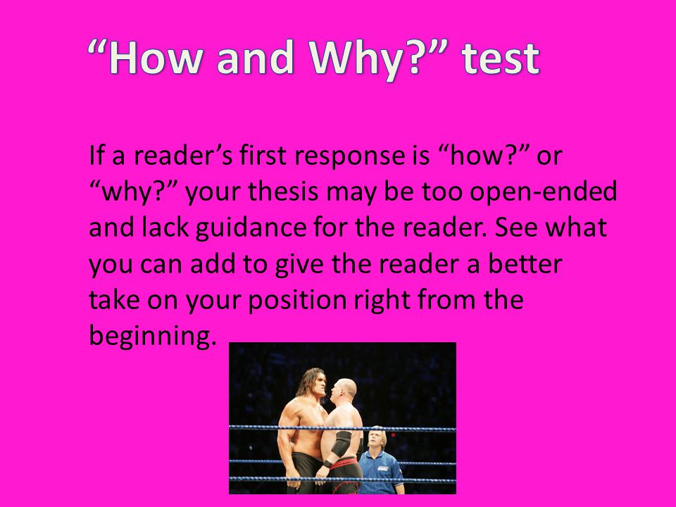 How and Why test