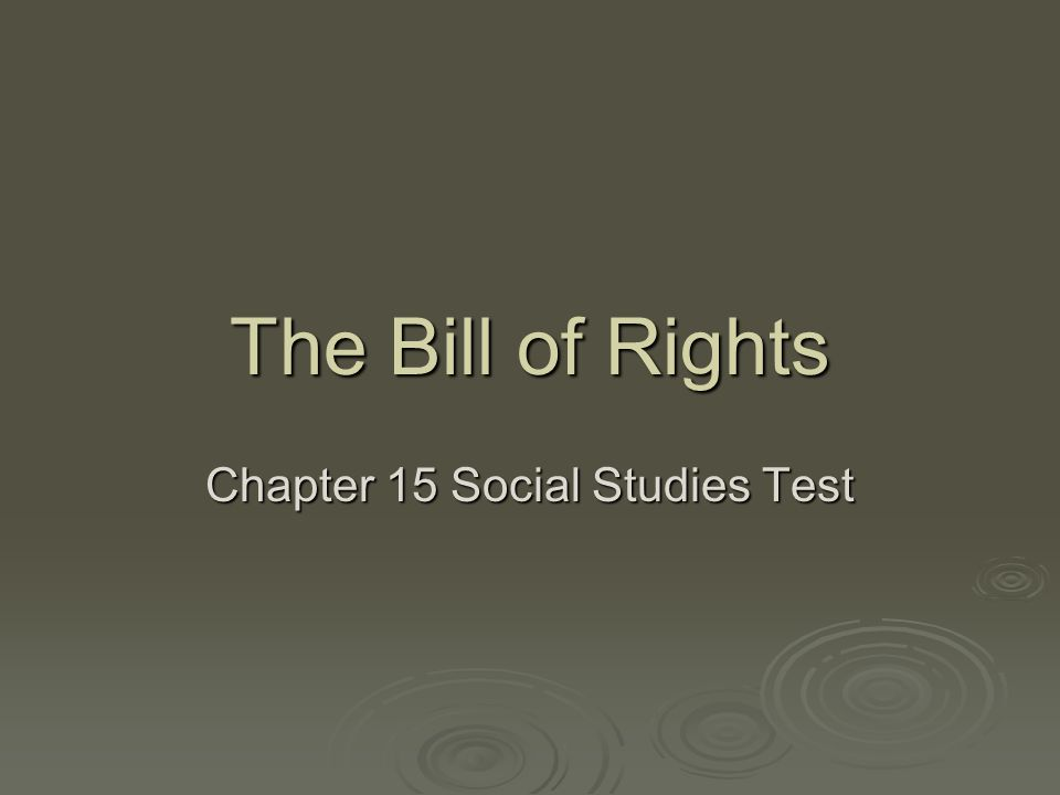 Chapter 15 Social Studies Test