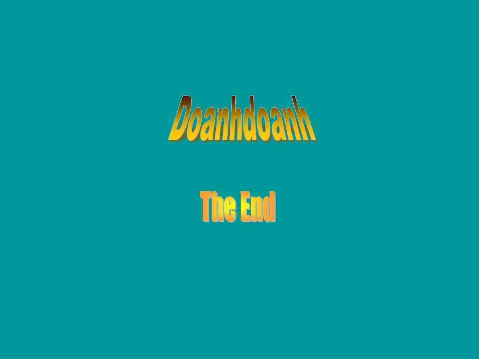 Doanhdoanh The End No Matter What You Do