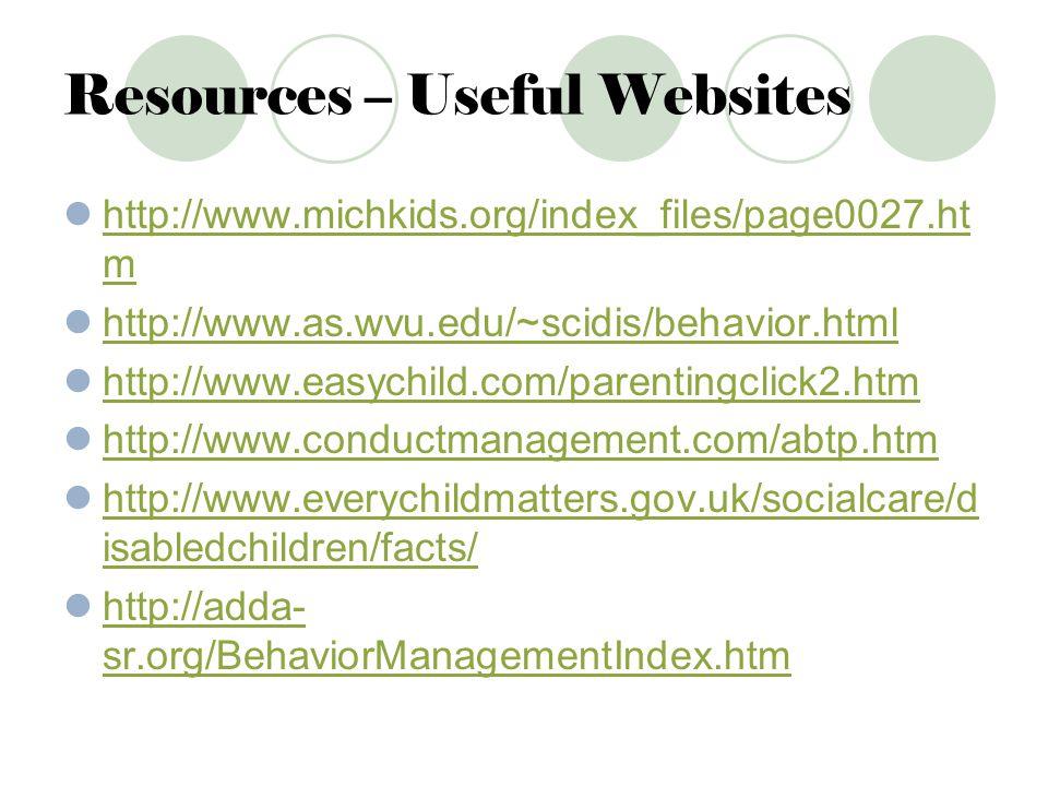 Resources – Useful Websites