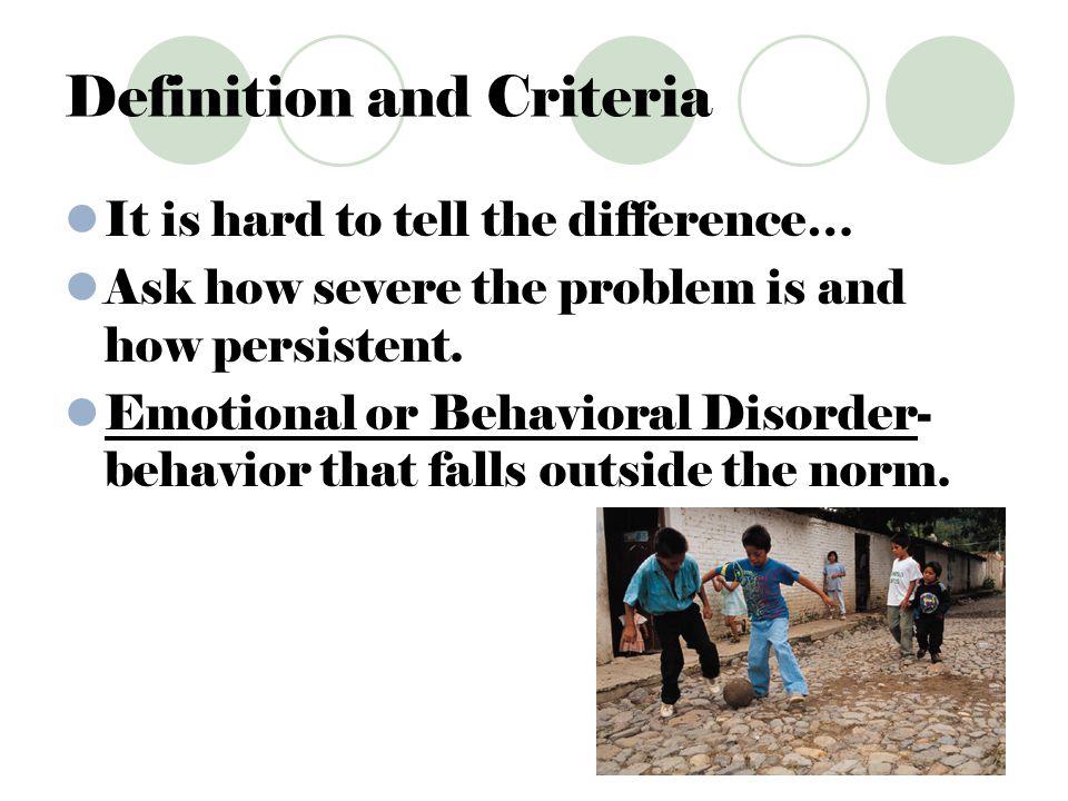 Definition and Criteria