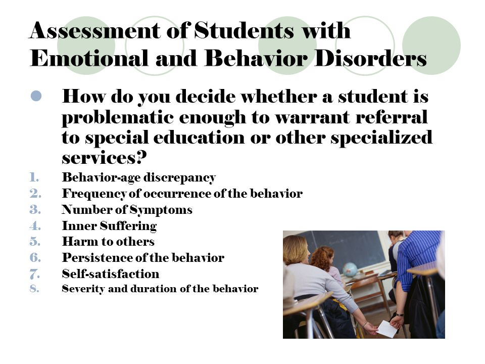 emotional disorder behavior essay Free college essay emotional disorder behavior parents today face the dilemma of having a child with emotional or behavioral disorder for small children, to have it.