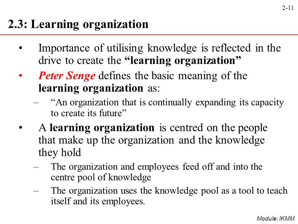 2.3: Learning organization