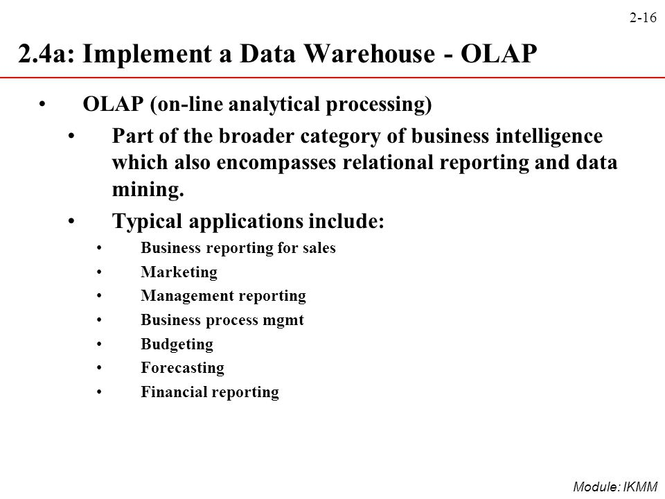 2.4a: Implement a Data Warehouse - OLAP
