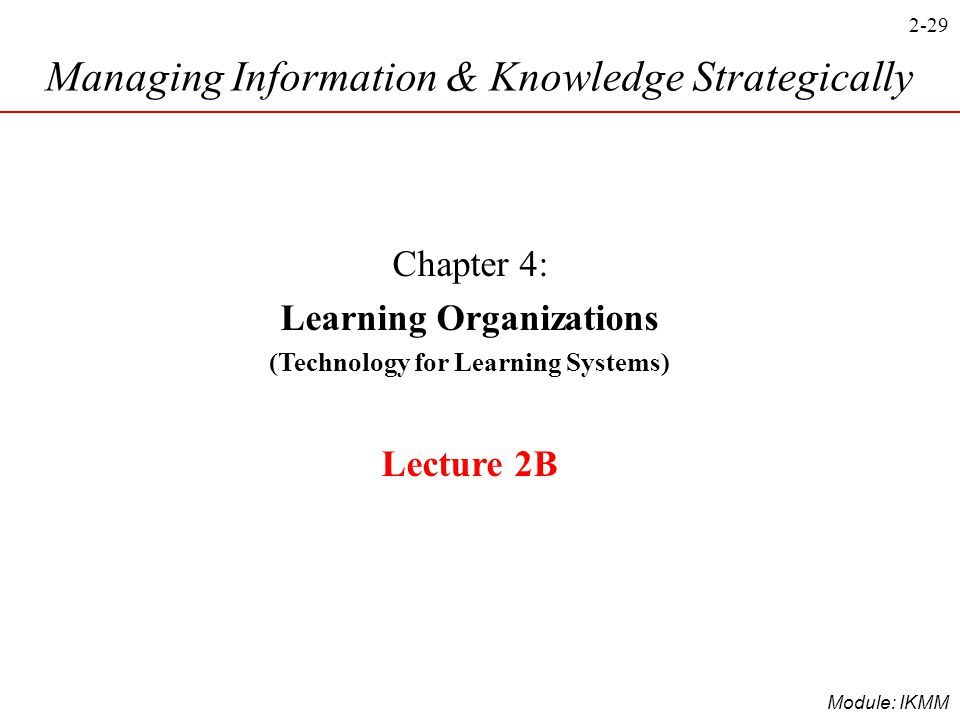 Learning Organizations (Technology for Learning Systems)