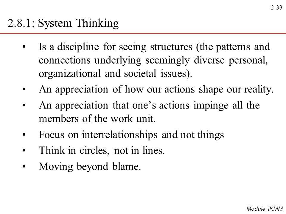 2.8.1: System Thinking
