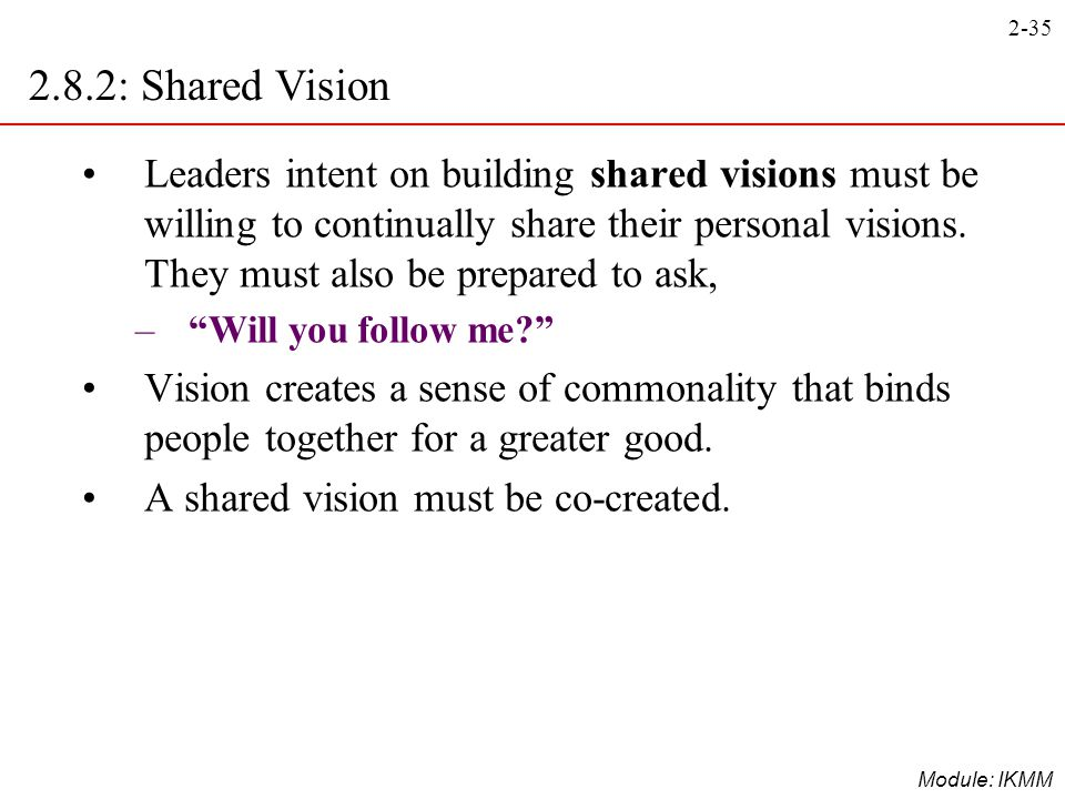 2.8.2: Shared Vision