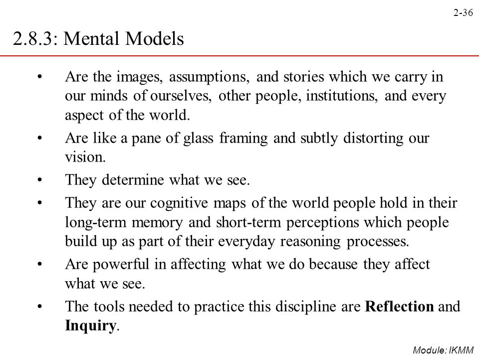 2.8.3: Mental Models