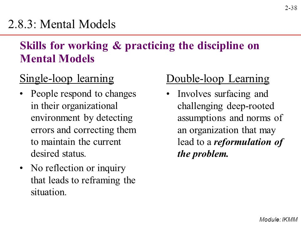 2.8.3: Mental Models Skills for working & practicing the discipline on