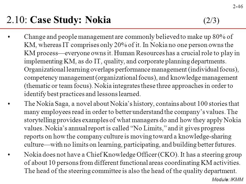 2.10: Case Study: Nokia (2/3)