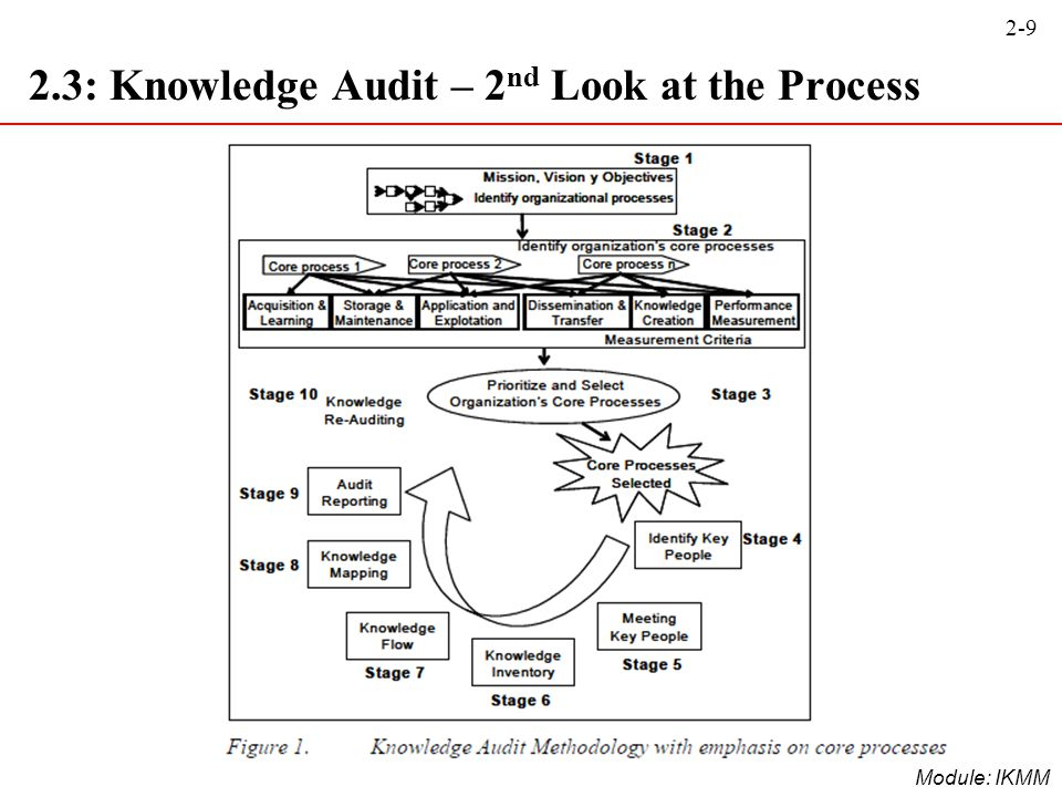 2.3: Knowledge Audit – 2nd Look at the Process