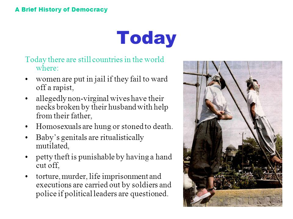 A Brief History of Democracy